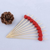 bamboo cocktail forks - postage creative red love fruit fork fruit toothpicks barbecue Toothpick bamboo cocktail fork fruit Tooth Picks