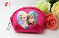 Wholesale Frozen D Purse Elsa Anna Printed Coin Purse Wallet Style Big Size cm children child Gifts For Holidays Christmas New Arrival