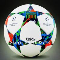 Wholesale New European champion league soccer ball Anti slip granules football ball PU size football ball High quality soccers