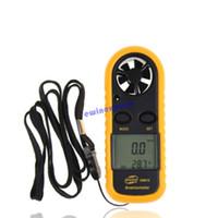 Wholesale Handheld Digital LCD Wind Speed Gauge Measurement Meter Thermometer Hand held Anemometer for Surf Sailing