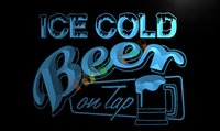 bar beer taps - LB912 TM Ice Cold Beer on Tap Bar Neon Light Sign Advertising led panel jpg