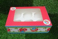 Cupcake Boxes cake boxes - 20pcs red boxes cups cake paper box with collet Muffin box Pastry boxes paper cake box western dessert boxes cookies box