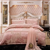 best tributes - Best Sell Jacquard Bedding Set Simple And Stylish Home Textiles Tribute Silk Sweet Bed Linen Queen King