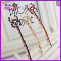 Wholesale 4pcs hot sale fashion hair jewelry accessories shiny rhinestone hair pins clip for women c jewelry c c hair