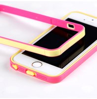 Wholesale New High Quality TPU and PC materials two color case for Iphone5s iphone6 iphone6 plus