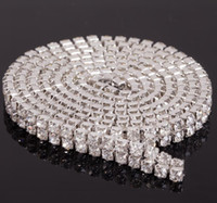 bands housing - MIC Yard Row Diamante Rhinestone Chain Cake Banding Trim Cake Decoration Wedding Supplies Hot
