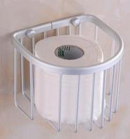 Wholesale The new space aluminum bath shelf toilet paper towel box of towel rack toilet paper basket bathroom pendant