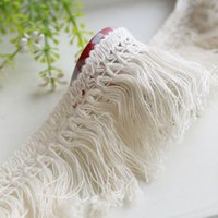 beige curtain fringe - 3 Yard Cotton beige cm tassel fringe lace trimming diy clothes accessories curtain table cloth decoration fabric
