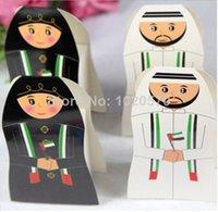 achat en gros de uae gros-Gros-2015 New 100pcs arrivée / lot EAU Wedding Party Box arabe Bonbons Boîte Favor Coffrets cadeaux Arabe Packaging Chocolate Box