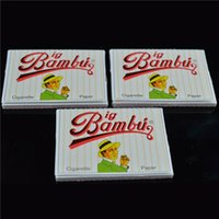 Cheap BIG BAMBU 96mm*66mm Cigarette Rolling Papers 50 Booklets a Box a Booklet for 96mm Smoking Rolling Paper Rolling Machine Grinder Glass Bong