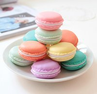 cosmetic storage box - Cute Candy Color Macaron Mini Cosmetic Jewelry Storage Box Jewelry Box Pill Case Birthday Gift Display