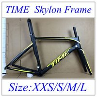 bicycle seatpost sizes - 2015 Newest arrival Yellow Fluo Carbon Road Bike including Frame Fork SeatPost Clamp popular time skylon Carbon Bicycle Frame size XXS S M L