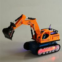 backhoe truck - Music luminescent children s electric toy backhoe excavator model electric truck baby toys kids toys