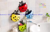 Wholesale Hot Sale creative cute ladybug toothbrush holder toothpaste holder combination package novelty households sucker Sheif