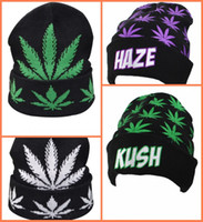 beanie hat - Hot Winter Women Man Beanies Beanie Hat Knitting Panel Weed Leaves Caps Hats Outdoor Skiing Caps Sport Beanies Cap High Quality F120 p