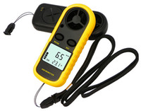 Wholesale Digital Handheld Wind Anemometer LCD Digital Hand held Wind Speed Gauge Meter Measure Anemometer Thermometer