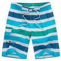 big mens wear - Striped Bermuda masculina Surf Shorts Mens Board Shorts Summer Sports Big Loose Tall Short Pants Beach wear Quick Dry Clothing