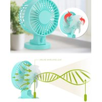 Wholesale USB Portable Desk Mini Fan with Switch for Office Use DC V mA Super Mute Cooler High Air Flow Adjustable Speed order lt no track
