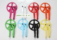 bicycle chain sprockets - 44T Fixie Bicycle Crankset Multi Colors Single Speed Steel Crank Chain Wheels Sprocket Fixie Fixed Gear Bike Crankset