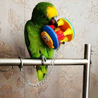 Wholesale Colorful Plastic Bird Parrot Hanging Toys Home Cage Climbing Toy Swing Ball Suit For Budgie Cockatiel
