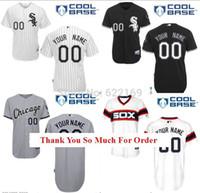base number - 2016 New Custom Men s Chicago White Sox Jersey Throwback Baseball Jerseys Name Number Cool Base Home Grey Black Retro White Green