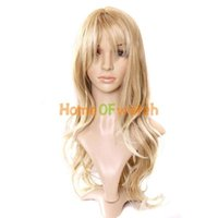Wholesale Charming Blonde Long Wavy Costume Wig Hair A5