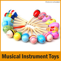 Wholesale Colorful Kids Children Toys Musical Instrument Maraca Wooden Percussion Instrument Musical Toy for KTV Party New Arrival