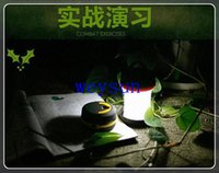 Wholesale DHL Freeshipping Outdoor Portable Compression Tent Light LED Hanging Lamp Emergency Flashlight Camping Lamp Light