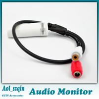 al por mayor sistema de cctv sonido-CC 9V-12V sonido grabadora de voz recogida monitor de audio de la cámara del cctv sistema nvr dvr tono puro automático AGC