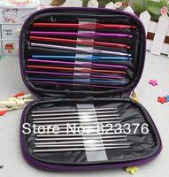 Wholesale sets set Aluminum Crochet Hooks Needles Knit Weave Stitches Knitting Craft Case