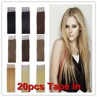 Wholesale 100g quot quot quot quot quot Glue Skin Weft Tap in Human Hair Extensions Remy Indian Human Hair