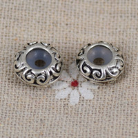 Wholesale 40 Antiqued Silver Tire Rubber Stopper Charms Space Beads Findings TS9507
