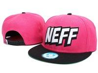 Al por mayor-barato Neff del Snapback Hats Pink Fashion Street Negro superior sombreros hombre de la calidad gorras de béisbol gorra de deportes de las mujeres del sombrero del envío libre