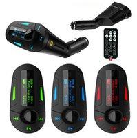 Wholesale Car Kit Wireless FM Radio Audio Transmitter MP3 Player Modulator TF Slot Charger With USB SD MMC Remote Control