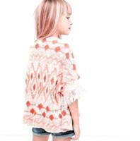 baby cardigan patterns - Baby Girls Sweaters New Autumn Winter Fashion Tassels Geometrical Pattern Sweater Warm Girls Cardigan Lace Children Sweaters MC