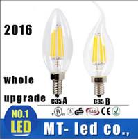 all'ingrosso candles-* 10 Edison filamento dimmerabile Led lampada della candela 2W 4W 6W E14 E12 ha condotto le lampadine ad alta 120LM luminoso / W bianco caldo 2700K ha condotto la lampada 110-240V AC