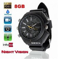 Wholesale Spy Watch Camera IR Night Vision GB P Waterproof Hidden HD Camera Watch mini DVR camcorder