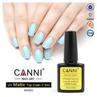 Wholesale Nails Tools Top Coat New CANNI Soak Off UV Matte Top Coat Gel Polish Nail Art Tips Dull Finish TopCoat Gel