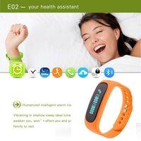 age life - Health activity sleep tracker wristband E02 bluetooth smart bracelet watch IP57 waterproof smart wristband e02 monitor your life