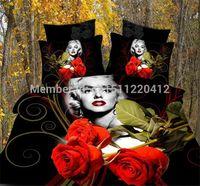 Cheap 3D bedding sets Queen size 3d bed linen bedclothes Marilyn Monroe designer 3d bed sheets duvet cover set