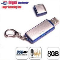 Wholesale new In Keychain USB Voice Recorder With GB Memory Hidden Digital Voice audio Recorder