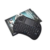 Wholesale Rii i8 Remote Fly Air Mouse mini Keyboard Combo Wireless G Touchpad Keypad For MXQ MXIII MX3 M8 CS918 M8S Bluetooth TV BOX Black