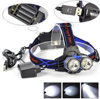 led headlight - 5000 Lumens USB Headlamp Headlight x XM L T6 LED Waterproof Flashlight Head Torch AA AAA Head Lamp Lanterna Usb Cable