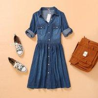 xxxxl - S M L XL XXL XXXL XXXXL Summer Style Plus Size Women Clothing Female Fashion Loose Casual Denim Dress Elegant Slim Dresses