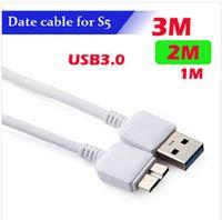Cheap 1M 2M 3M Micro B USB 3.0 Data Sync Charging Transfer Charger Cable for Samsung Galaxy Note 3 S5 i9600 N900 N9000 N9006 N9002 N9008 100PCS