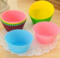 Wholesale DIY Silicone jelly Cake Moulds baking mold Colorful Muffin Cup Cake Moulds Non toxic Tasteless Non stick Bakeware Cupcakes FDA approve DHL