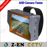Wholesale 2015 New quot AHD Camera Tester Hot HD Analog CCTV Monitor Test V Power Output Cable Testing Built in Li battery P P