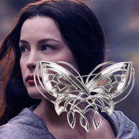 Wholesale Hobbit brooches good quality fashion Arwen butterfly women brooches Hobbit accessories jewelry factory low price wholesales