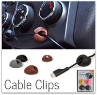 Wholesale 2000x M Adhesive Car Tie Mounts Cable Clips Cable Drop Wire Holder with Retail Pack DHL FREE
