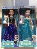 2014 venta Caliente elemento de 11,5 pulgadas Congelado Figura Play Elsa Juguetes Clásicos Congelado Juguetes Muñecos muñeco de nieve con la olaf para niñas regalos a los niños
